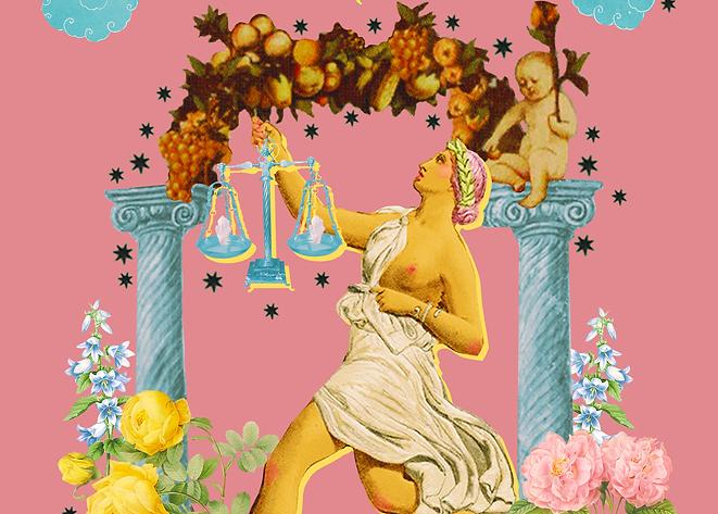 libra horoscope collage