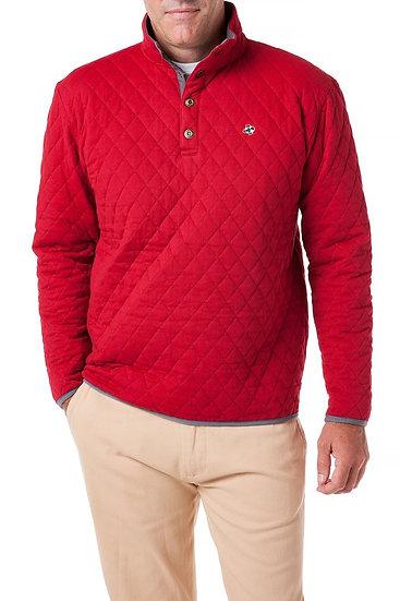 Cross Rip Quilted Sweatshirt in Regatta Red