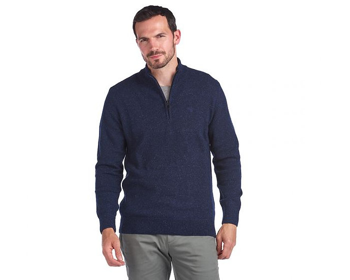 Tisbury Half Zip Sweater in Navy