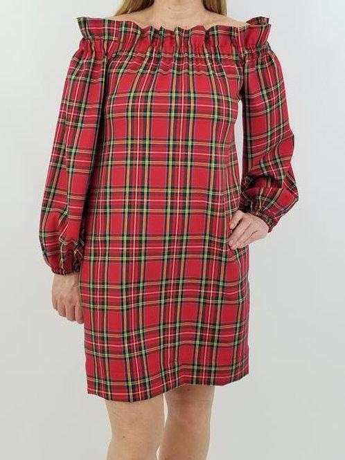 The Derby Dress in Red Tartan