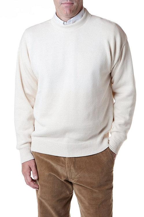 Yachtsman Crewneck Sweater in Cream
