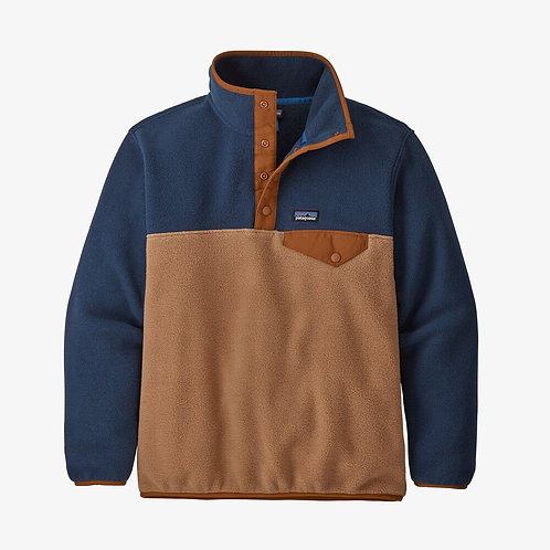 Lightweight Synchilla Snap Pullover in Beech Brown