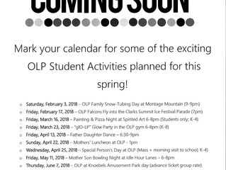 Student Activities for Spring 2018