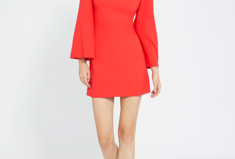 Bell Sleve Mini Dress