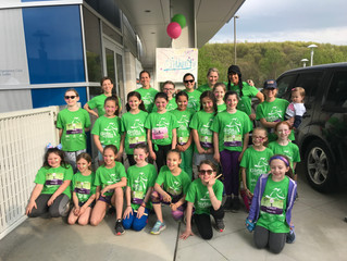 OLP/Waverly team of Girls on the Run Community Impact Project