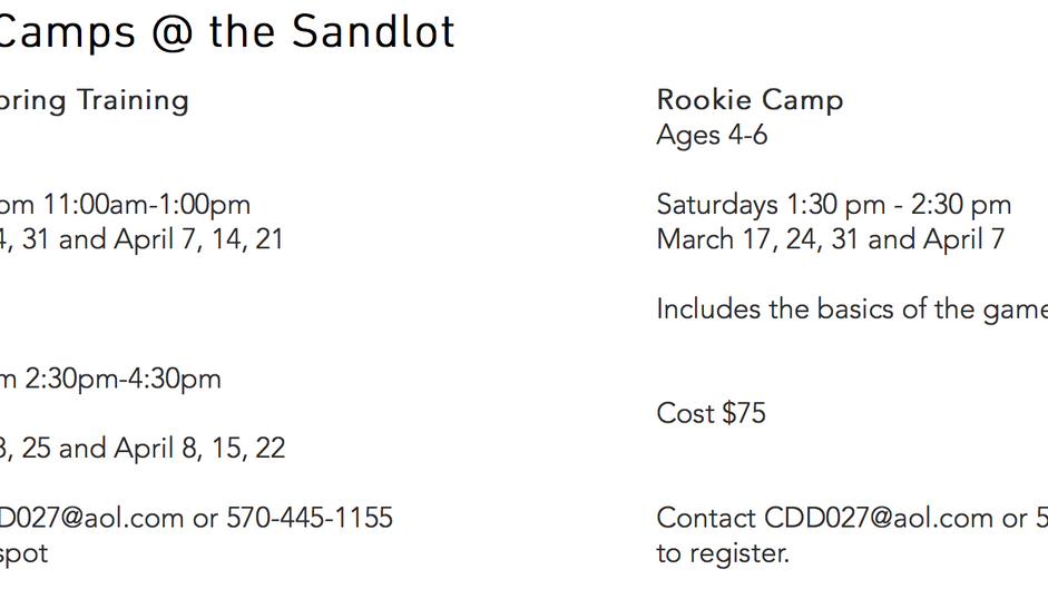 Sandlot Camps