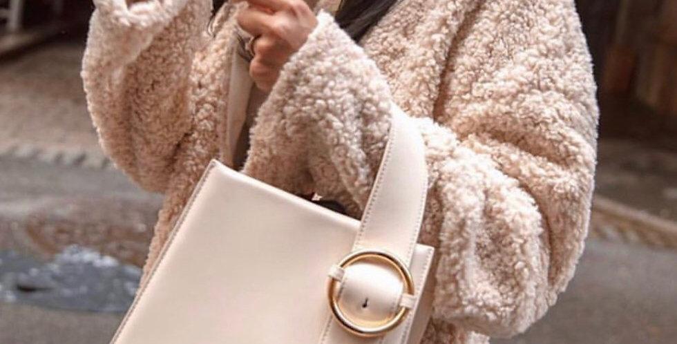 Cream Top Handle Bag