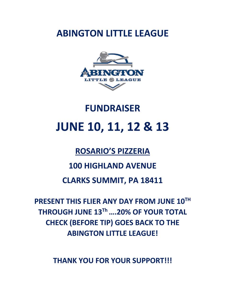 Rosario's June Fundraiser