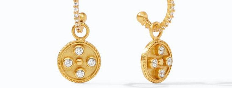 Paris Hoop & Charm Earring
