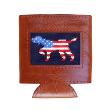 Hand Stitched Leather Coozie - Many Styles!