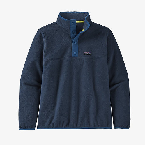 Micro D Snap T Pullover in Navy