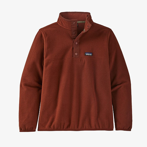 Micro D Snap T Pullover in Barn Red