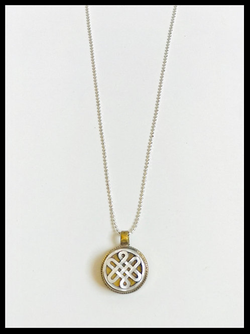 Mother of Pearl Tibetan Pendant Necklace