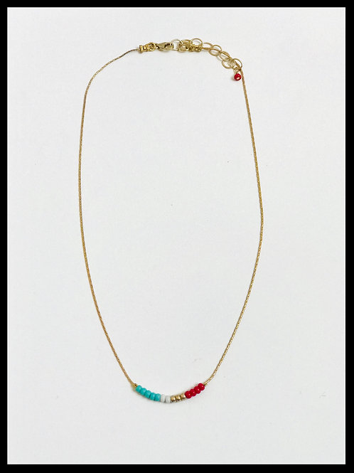 Minimalist Beaded Necklace 1