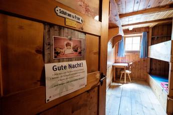 Hohenzollernhaus, Gute Nacht, Lagerplätze