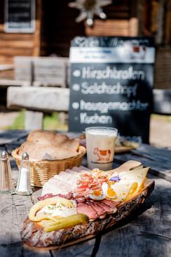Hohenzollernhaus, Brettljause, gschmackig, guat