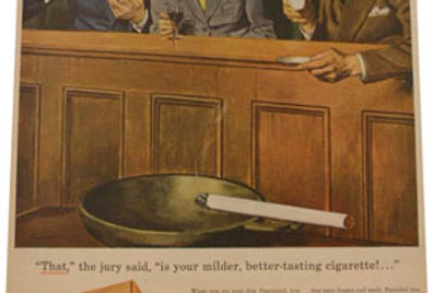 Framed Fleetwood Cigarette Advertisement, 1946