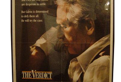 """Unframed """"The Verdict"""" Movie Poster, 1982"""