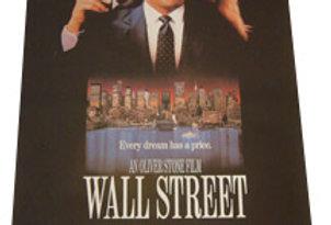 "Unframed ""Wall Street"" Movie Poster, 1987"