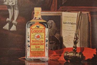 Framed Gordon's London Dry Gin Advertisement, 1963