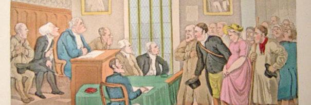 Court of Justice Aquatint (1840s)