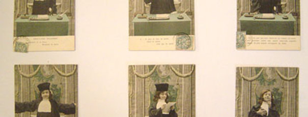 Rare Complete Set of Satirical French Legal Postcards, 1904