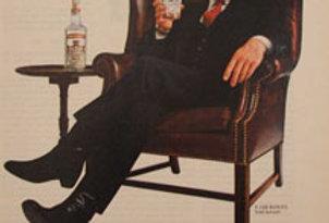 Framed Smirnoff Vodka Advertisement, 1982