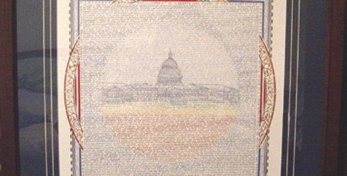 Article I: Congress (Susan Loy Calligraphy)