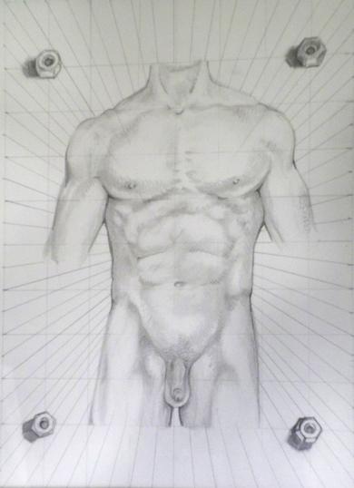 Male Torso, Study of Netter