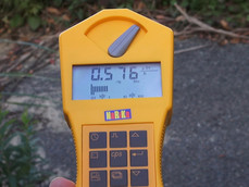 避難指定解除区域で測定1