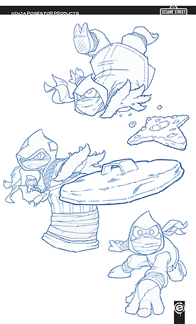 Sesame street, themed, ninja, cookie monster, oscar, slimey, elmo, cookie star,