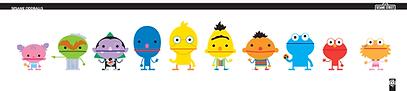 Sesame Oddballs, character design, sesame styles