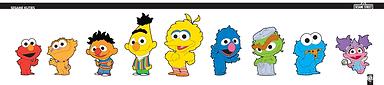 Sesame Kuties, character design, sesame styles, calvin and hobbes