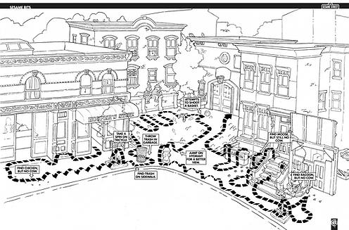 Sesame Bits, Family Circus, path, Sesame Street