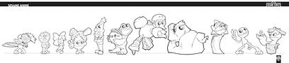 Sesame Anime, character design,