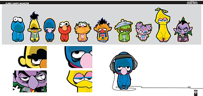 Sesame Zombies, sesame styles, character design