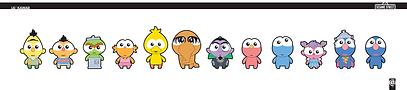 Sesame, Kawaii, Cute, superdeformed, character design, sesame styles