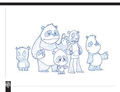 character design, panda, cute