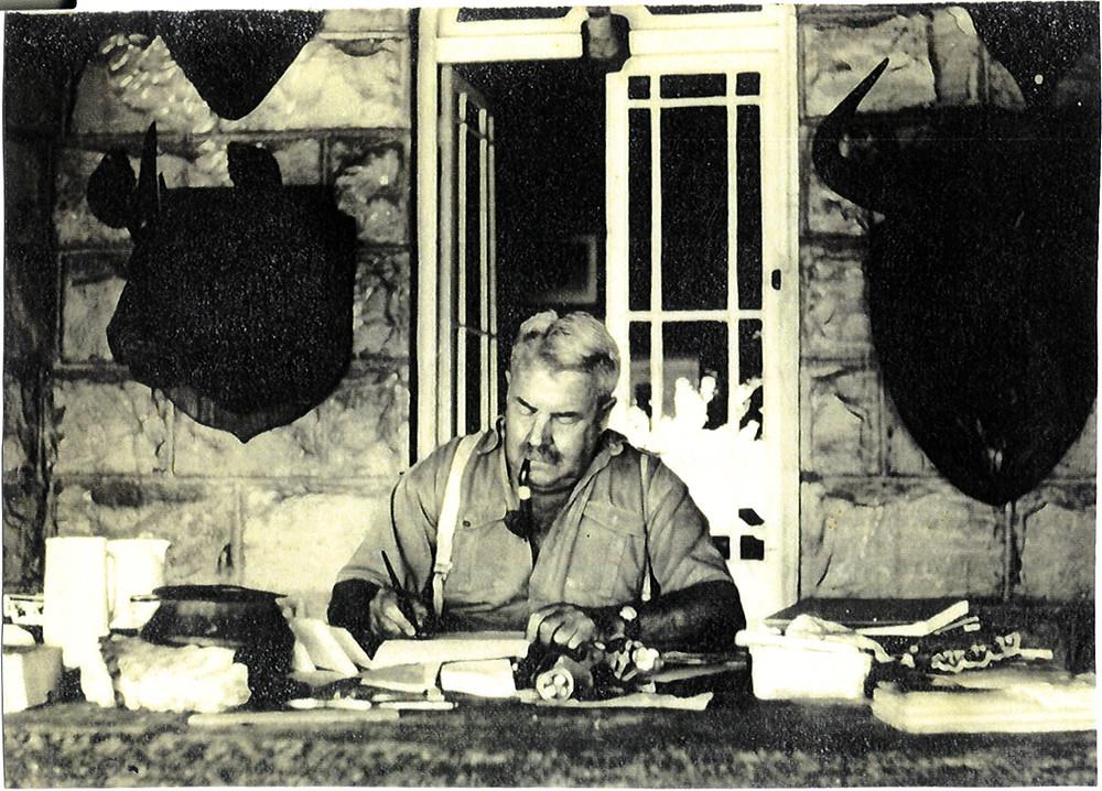 Mervyn Bosworth Smith at his desk