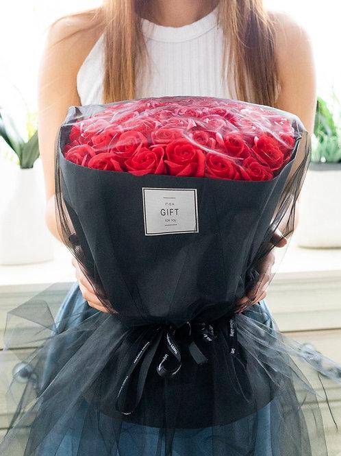 現貨- 52支韓式永久香薰玫瑰花束(紅色)