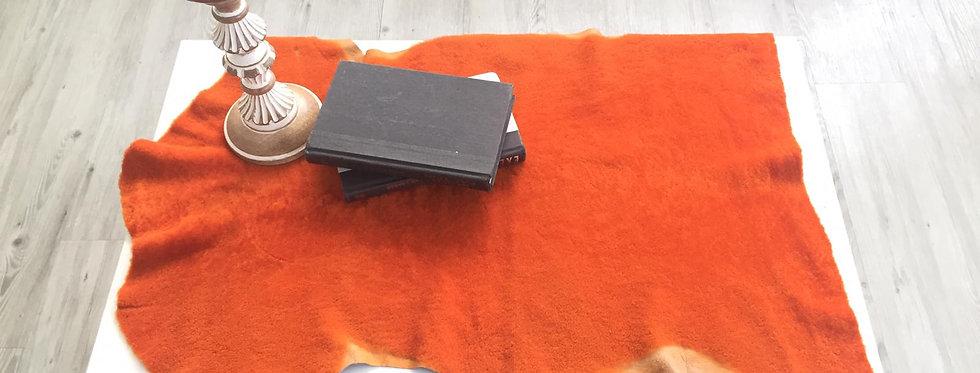 橙色-山羊毛原張皮塊