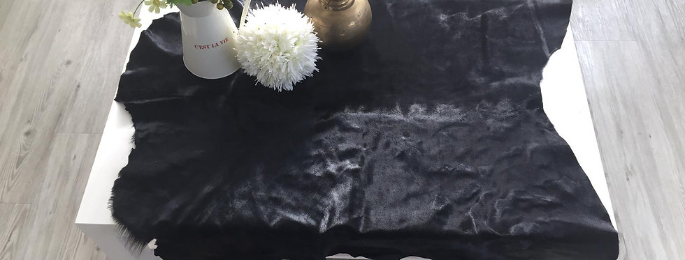 黑色-馬毛原張皮塊