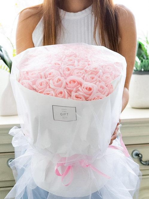現貨- 52支韓式永久香薰玫瑰花束(粉紅色)