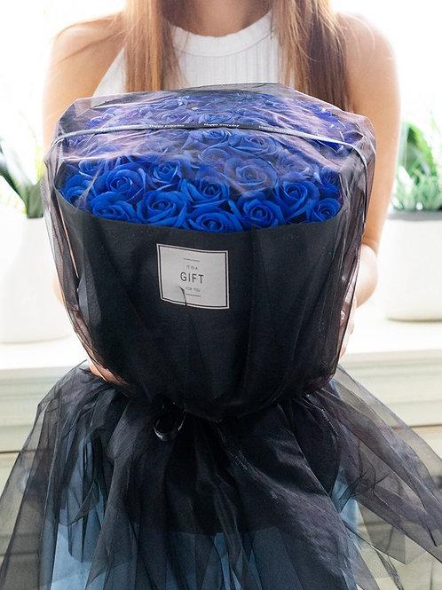 現貨- 52支韓式永久香薰玫瑰花束(藍色)