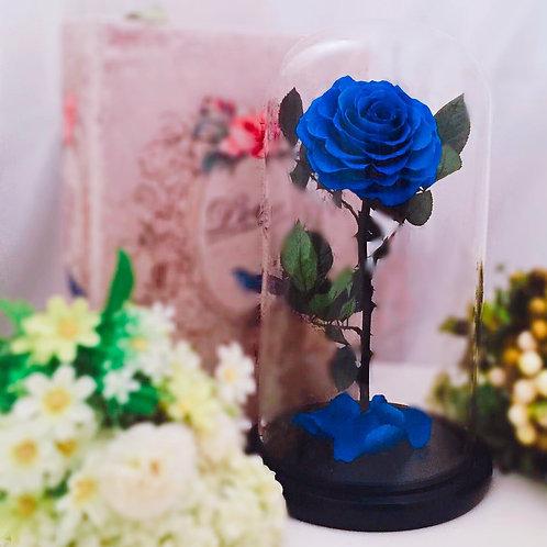 現貨 - [32cm] 韓式手工永生玫瑰花 (藍色)