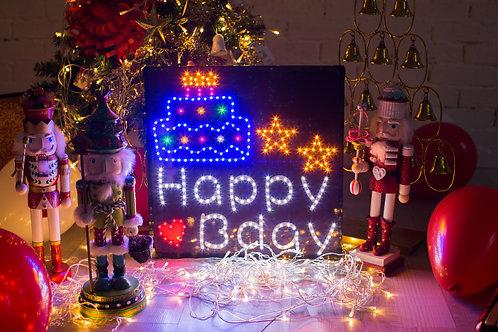現貨-LED生日燈牌