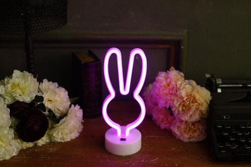 現貨 - 韓式霓虹檯燈(小兔 -粉紅)