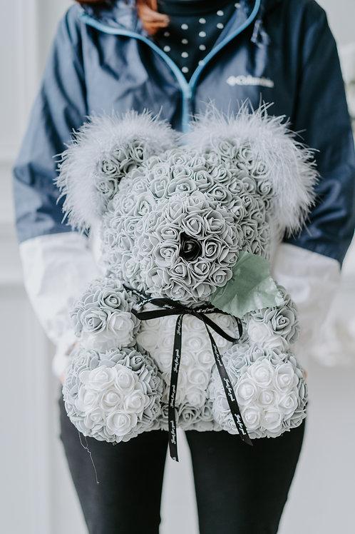 現貨 - [35cm高] 永久保存玫瑰絲帶樹熊