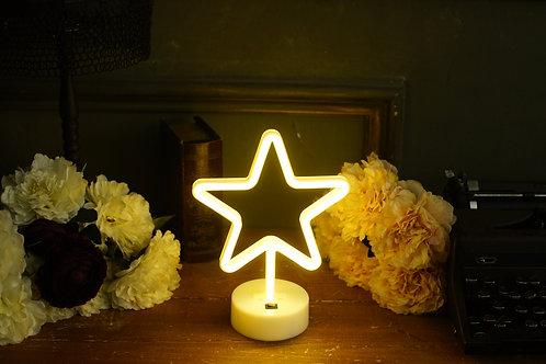 現貨 - 韓式霓虹檯燈(星-黃)