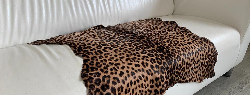 豹紋圖案馬毛原張皮塊